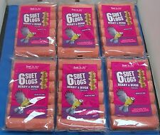 36 X WILD BIRD FOOD SUET TO GO LOGS BERRY AND BUGS TREATS HIGH ENERGY