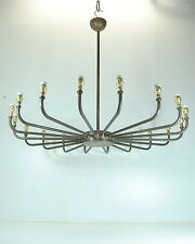 Lampadario LARGE INDUSTRIAL CHIC Brass Chandelier Edison Interior Bar Restaurant