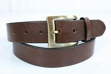 "Trafalgar USA Sz 38 Brown Pebble Scotch Grain Belt 1.5"" Wide Brass Buckle"
