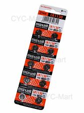 10pcs x Zero Hg Maxell LR1130  Batteries AG10 189 Brand New FREE POST 12/2019