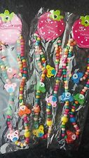 Childrens wooden Necklace and Bracelet..... Teddy Bear.Colourful..UK Seller