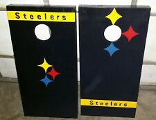 Pittsburgh Steelers Handmade Cornhole Boards!!  Totally Original Design!