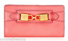 NWT Juicy Couture Hillcrest Bombshell Pink Leather Continental Wallet YSRU2760
