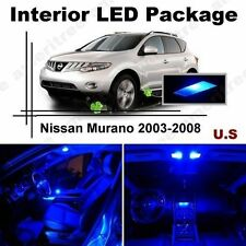 Blue LED Lights Interior Package Kit for Nissan Murano 2003-2008 ( 11 Pieces )