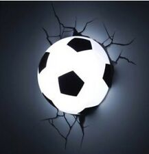 3D Deco Nightlight Soccer Ball w/ Crack Sticker - Battery -Easy To Install NIP