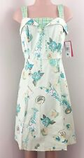 NWT Women's Sangria Size ~ 10 Fun Cocktail Tropical Dress Green MSRP $88