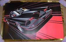 BATMAN Batmobile 66 Gold Foil VARIANT comic movie poster print Craig Drake