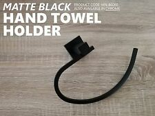 Modern MATTE BLACK Brass Square Curved Small Face or Hand Towel Holder Ring Rail