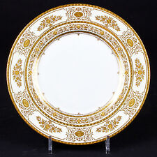 12 Minton Argyle Gold Dinner Plates, Larger Service Available