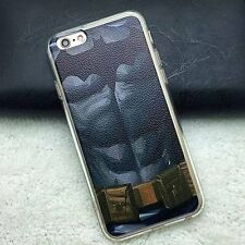 for iPhone 6 / 6S - BATMAN BLACK CLEAR ABS Hard TPU Rubber Gummy Skin Case Cover