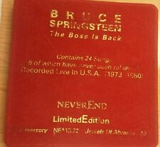 BRUCE SPRINGSTEEN - THE BOSS IS BACK - 2 CD LIVE IN USA 73/80 limited edition