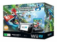 Wii U 32gb Mario Kart 8 Premium Console Pack + (Super Mario Bros U Download) NEW