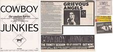 COWBOY JUNKIES : CUTTINGS COLLECTION -adverts-