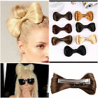 Large Hair Bow Clip Synthetic Fake blonde brown black wine coffee