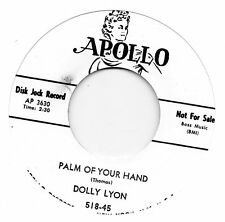 DOLLY LYON  PALM OF YOUR HAND/CALL ME DARLING  APOLLO Re-Pro NORTHERN/POPCORN