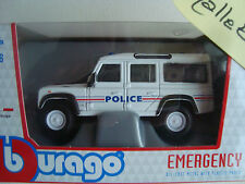 MINIATURE LAND DEFENDER 110  POLICE NATIONALE 1/47 NEUF EN BOITE B BURAGO