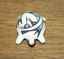 NATIVE AMERICAN P. IULE POTTERY SIGNED TURTLE ACOMA NEW MEXICO