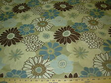 ~BTY~MODERN RETRO FLOWERS~EMBROIDERED PT CHENILLE UPHOLSTERY FABRIC FOR LESS~