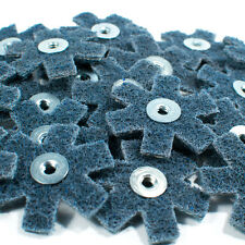 "25pc 2"" Surface Conditioning Star Abrasive Disc -Blue Fine Grade"