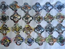 COMPLETE COLLECTION 24 TAZOS POGS TRANSFORMERS BY BARCEL MEXICO
