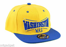 BERRETTO RAP HIP HOP CAPPELLO CAPPELLINO VISIERA PIATTA WASHINGTON giallo