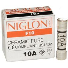 NEW pack 2 x 10 AMP 10A household plug fuse fuses ceramic