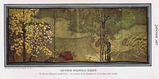 JAPANESE ART - Magnolia Screen-Buddha Sculpture-  1930s Prints