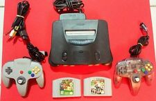 Complete and Original Nintendo 64 Console + 2 Controllers+ Mario's combo!