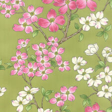 Moda Fabric DOGWOOD TRAIL II on Clover- yards