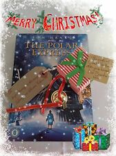 Gold I believe polar express style metal jingle santa christmas boxed bell