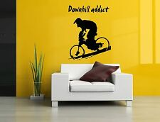 Wall Decor Art Vinyl Sticker Mural Decal Bmx Bike Quote Poster Bicycle SA502