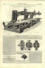 1892 Multiple Arm Radial Drilling Machine Hetherington Manchester Abrahamson