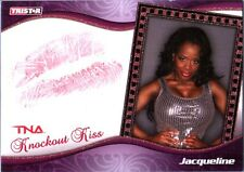 TNA Jacqueline 2009 Knockouts GOLD Authentic Kiss Card SN 5 of 75