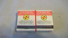PACKAGE OF 4 VINTAGE UNUSED STATEWIDE RURAL ELECTRIC CO-OP MATCH BOOKS
