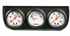 Triple Gauge set - White  faced oil pressure voltage water temp new