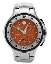 NWOT Men's Movado 2600041 Series 800 Performance Chronograph Orange SS Watch