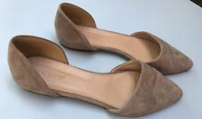 J Crew Shoes 6.5 Flats Pointy Toe D'Orsay Gray Suede Womens