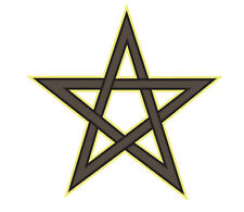 Window Decals Car Sticker WITCH broom wicca wiccan pentacle pentagram bumper