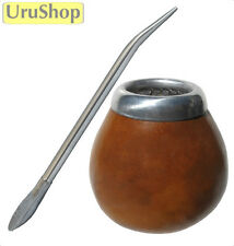 K16 MATE GOURD & BOMBILLA SET (CUP AND STRAW) TO DRINK YERBA MATE