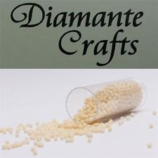 1200 x 2mm Cream No Hole Beads (colour 12) card making, crafts, nail art