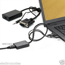Real VGA to HDMI Converter with Audio Vga Male to HDMI Female Video Converter