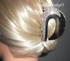 Capella*USA* New Black Crystal Rhinestone CHIC Party Wedding Hair Clip Claw CD9