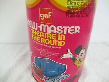 GAF VIEW MASTER THEATER PROJECTOR  CANISTER DISNEY OVER 40 REELS OUT OF PRINT
