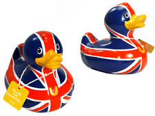Designer UK Great Briton British Flag Bath Time Rubber Duck By Bud