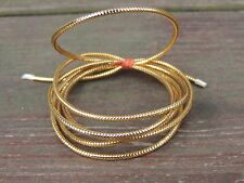 "1 Yard GOLD Small 1/16"" Diameter Mylar Minnow Tubing Piping Fly Tying"
