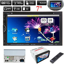 "7"" Double 2Din Car Stereo Radio Video DVD CD Player Bluetooth iPod MP5 Player"