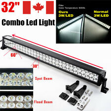 32inch 180W LED Light Bar Work Flood Spot Offroad Jeep Truck SUV Car Driving 30