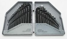 Allen Wrench & Hex Key 30PC Set Metric and SAE Standard Short Long Steel