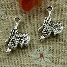 free ship 90 pcs tibetan silver saddle charms 22x12mm #2862