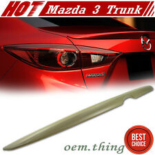 New ABS Painted Mazda 3 4D Sedan OE Style Rear Trunk Spoiler Wing 14-16